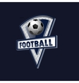 football logo for team and cup vector image vector image