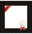 frame with ribbon and seal vector image vector image