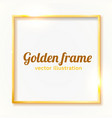 gold shiny vintage border isolated on white vector image