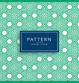 green abstract flower style pattern background vector image vector image