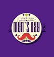 international men s day typography label design in vector image