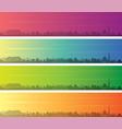 kabul multiple color gradient skyline banner vector image vector image