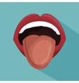 lip female beautiful d icon vector image