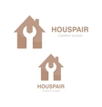 logo of repair of house vector image vector image