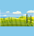 lovely country rural landscape pasture cartoon vector image
