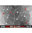 Low Poly trangular network with nodes background vector image vector image
