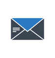 mail glyph icon vector image