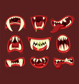 monster angry and hungry mouth with teeth vector image vector image