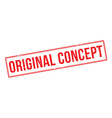 Original Concept red rubber stamp on white vector image vector image