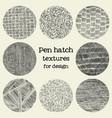 pen hatch round grunge textures vector image vector image