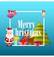 Poster Christmas with Santa Claus vector image vector image
