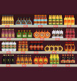 pub or tavern alcohol shop or store stall stand vector image