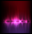 purple-red wave abstract equalizer background vector image vector image