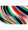 rainbow color waves blurred abstract vector image vector image