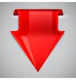 Red arrow bookmark Design element vector image
