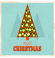 retro christmas card 3 vector image