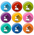 Round icons with stumps vector image vector image