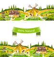 Rural landscapes vector image vector image