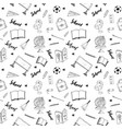 school seamless pattern handdrawn doodles vector image vector image