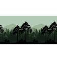 Seamless Landscape Trees and Mountain Silhouettes vector image vector image