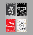 set of cute christmas cards posters collection vector image vector image