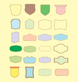 set of retro blank labels template vector image