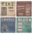 set retro hawaiian banners vector image vector image