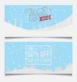 set winter sale banner vector image