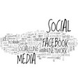 socializing word cloud concept vector image vector image