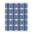 solar battery icon flat isolated vector image vector image