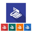 square icon of pos-terminal with credit card flat vector image