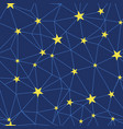 stars network navy seamless pattern vector image