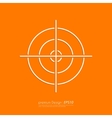 Stock Linear icon target vector image vector image