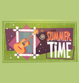 summer time vacation camping travel retro banner vector image