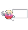 thumbs up with board jelly ring candy character vector image