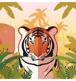 Tiger on the Jungle Background vector image vector image