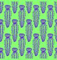 trendy cactus seamless pattern vector image
