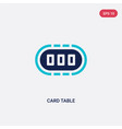 two color card table icon from furniture and vector image vector image