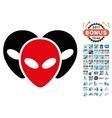 Visitor Heads Icon with 2017 Year Bonus Symbols vector image