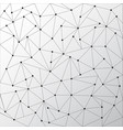 abstract triangles outlines with dots connect on vector image