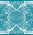 blue patterned tiles in the style of sentangle vector image