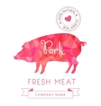 Image meat symbol pork silhouettes of animal for vector image