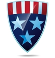 Shield with flag of the USA vector image