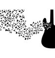 abstract mysical background with guitar vector image