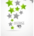 abstract background color stars vector image vector image