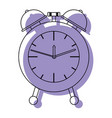 alarm clock purple watercolor silhouette on white vector image vector image
