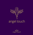angel touch concept vector image