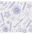 Back to school hand-drawn seamless pattern vector image