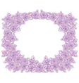 beautiful pink and lilac romantic frame vector image vector image