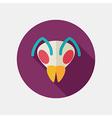bee flat icon animal head symbol